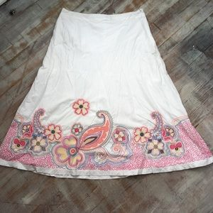 Boden Maxi Skirt With Embroidery